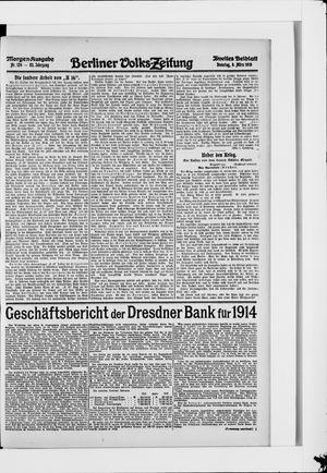 Berliner Volkszeitung vom 09.03.1915