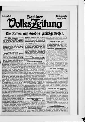 Berliner Volkszeitung vom 12.03.1915