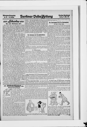 Berliner Volkszeitung vom 14.03.1915