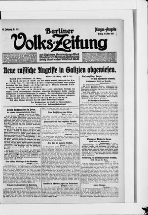 Berliner Volkszeitung on Mar 19, 1915