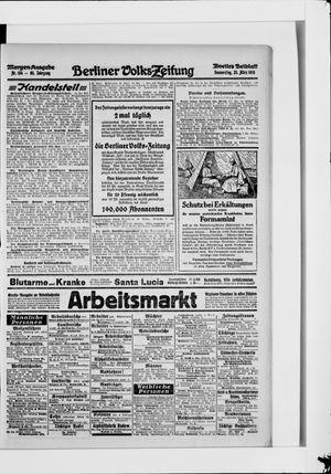 Berliner Volkszeitung vom 25.03.1915