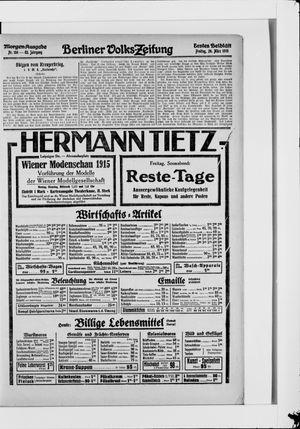 Berliner Volkszeitung vom 26.03.1915
