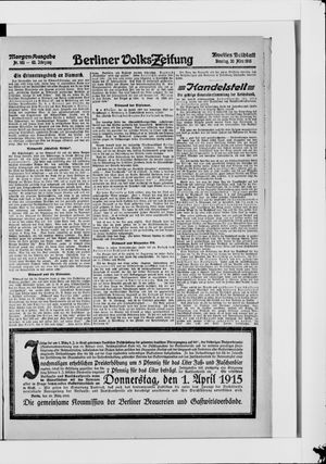 Berliner Volkszeitung on Mar 30, 1915