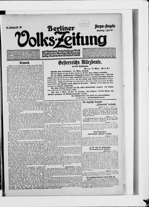 Berliner Volkszeitung vom 01.04.1915