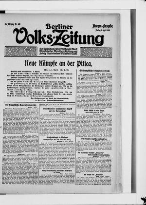 Berliner Volkszeitung vom 02.04.1915