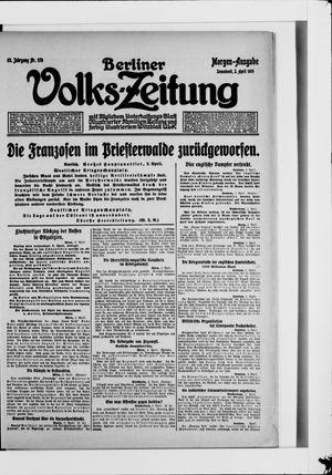 Berliner Volkszeitung vom 03.04.1915