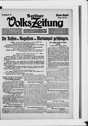 Berliner Volkszeitung vom 06.04.1915
