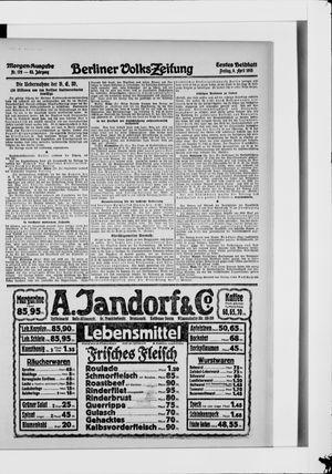 Berliner Volkszeitung vom 09.04.1915