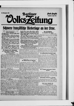 Berliner Volkszeitung vom 10.04.1915
