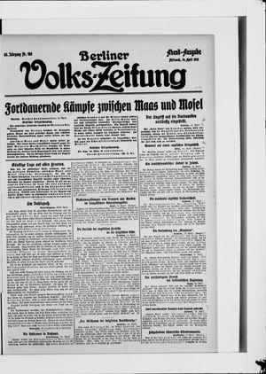 Berliner Volkszeitung vom 14.04.1915