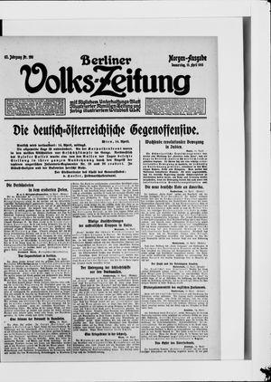 Berliner Volkszeitung vom 15.04.1915