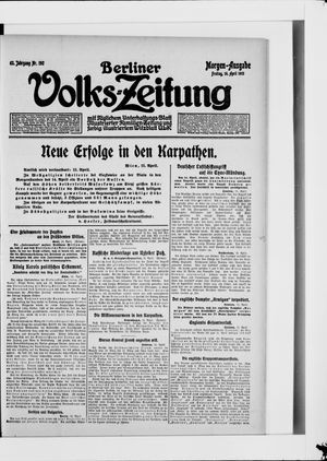 Berliner Volkszeitung vom 16.04.1915
