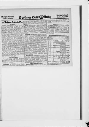 Berliner Volkszeitung vom 17.04.1915