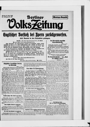 Berliner Volkszeitung vom 19.04.1915