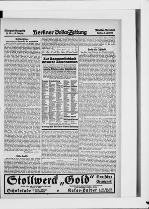 Berliner Volkszeitung vom 20.04.1915