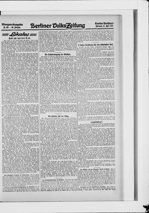 Berliner Volkszeitung vom 21.04.1915