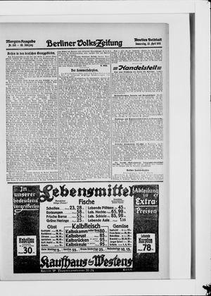 Berliner Volkszeitung vom 22.04.1915