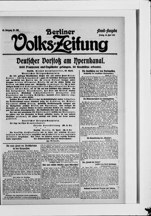 Berliner Volkszeitung vom 23.04.1915
