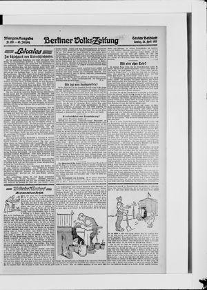 Berliner Volkszeitung vom 25.04.1915