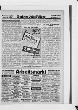 Berliner Volkszeitung vom 28.04.1915
