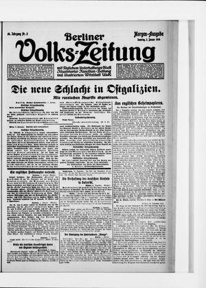 Berliner Volkszeitung on Jan 2, 1916