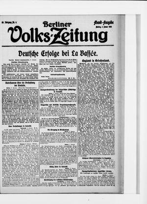 Berliner Volkszeitung vom 03.01.1916