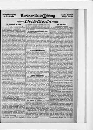 Berliner Volkszeitung vom 11.01.1916