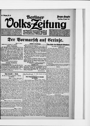 Berliner Volkszeitung vom 13.01.1916