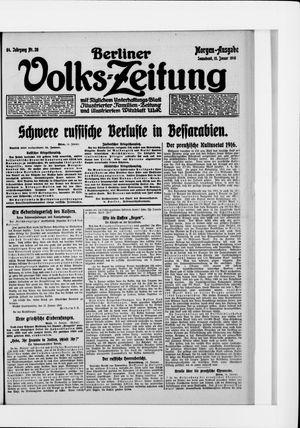 Berliner Volkszeitung vom 15.01.1916