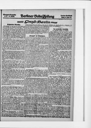 Berliner Volkszeitung on Jan 16, 1916