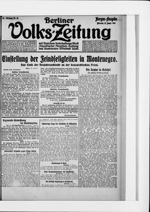 Berliner Volkszeitung vom 19.01.1916