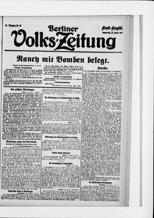 Berliner Volkszeitung vom 20.01.1916