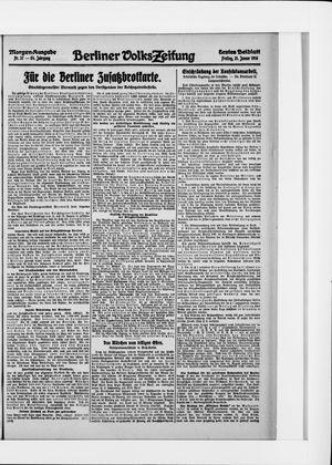 Berliner Volkszeitung on Jan 21, 1916