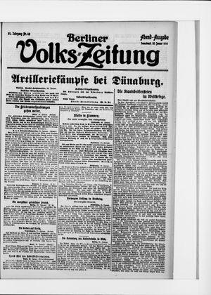Berliner Volkszeitung vom 22.01.1916