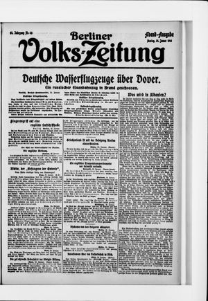 Berliner Volkszeitung vom 24.01.1916
