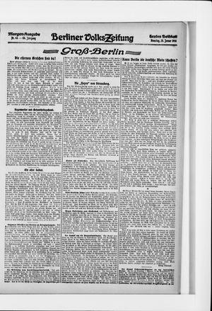 Berliner Volkszeitung vom 25.01.1916