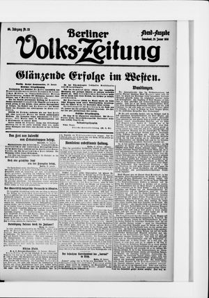 Berliner Volkszeitung on Jan 29, 1916