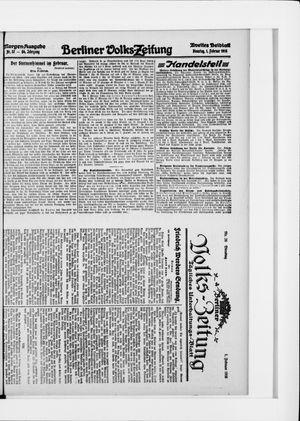 Berliner Volkszeitung vom 01.02.1916