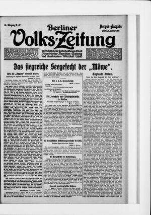 Berliner Volkszeitung vom 06.02.1916