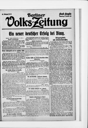Berliner Volkszeitung vom 10.02.1916