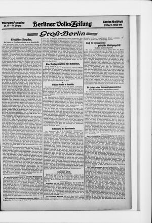 Berliner Volkszeitung vom 11.02.1916