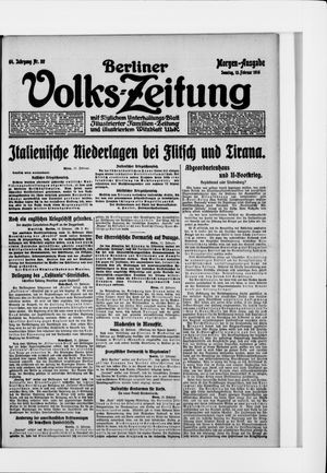 Berliner Volkszeitung vom 13.02.1916