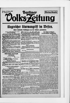 Berliner Volkszeitung vom 14.02.1916