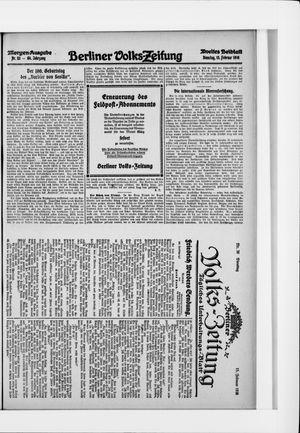 Berliner Volkszeitung on Feb 15, 1916