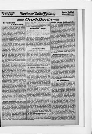 Berliner Volkszeitung vom 16.02.1916