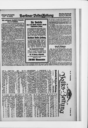 Berliner Volkszeitung vom 17.02.1916