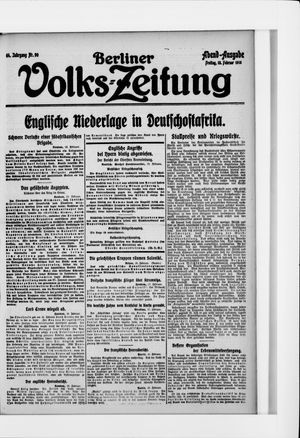 Berliner Volkszeitung vom 18.02.1916