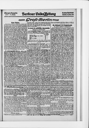 Berliner Volkszeitung vom 19.02.1916