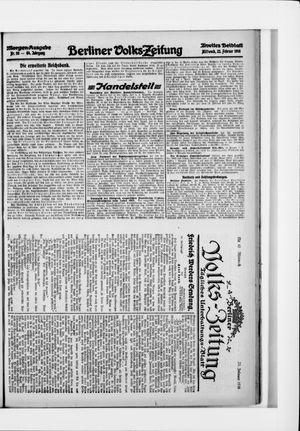 Berliner Volkszeitung on Feb 23, 1916
