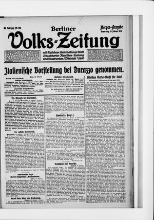 Berliner Volkszeitung vom 24.02.1916